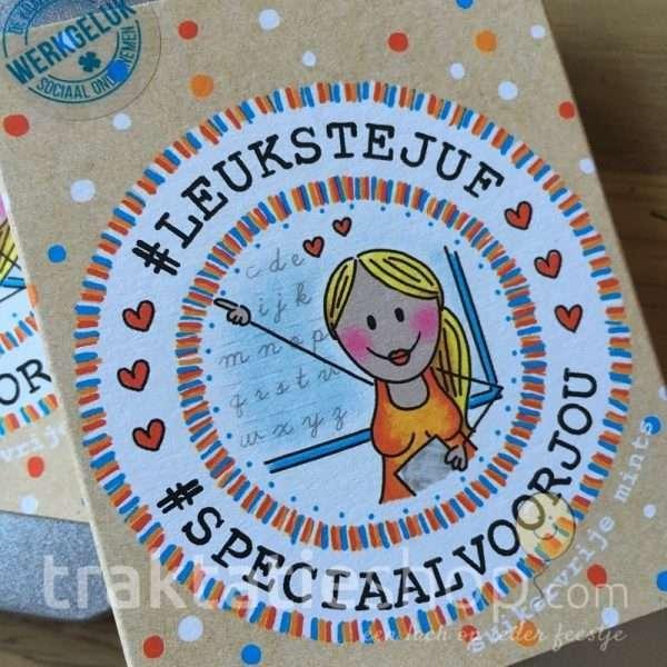 Hedendaags Blikje met Mints voor de Leukste Juf - traktatieshop.com DS-65