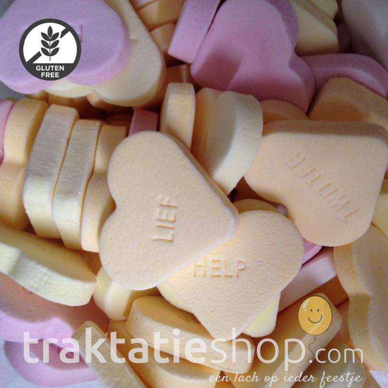 Wonderlijk Groot hart met tekst - traktatieshop.com UZ-55