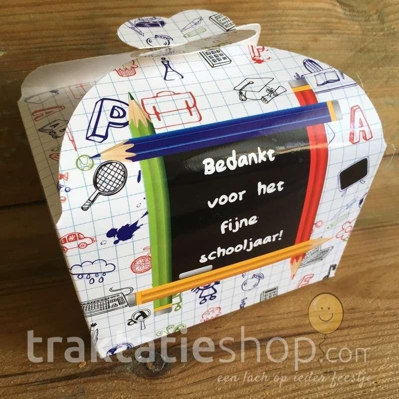 Bekend Doosje Einde Schooljaar - traktatieshop.com DZ14
